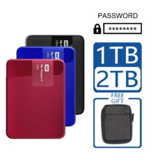WD 1TB 2TB External Hard Drive Disk Portable Encryption Password Computer HDD HD SATA USB 3.0 My Passport Ultra Storage Device