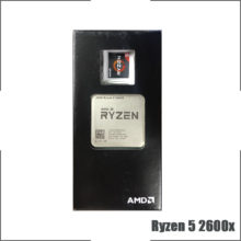 AMD Ryzen 5 2600X R5 2600X 3.6 GHz Six-Core Twelve-Thread CPU Processor L3=16M 95W YD260XBCM6IAF Socket AM4  New and with fan